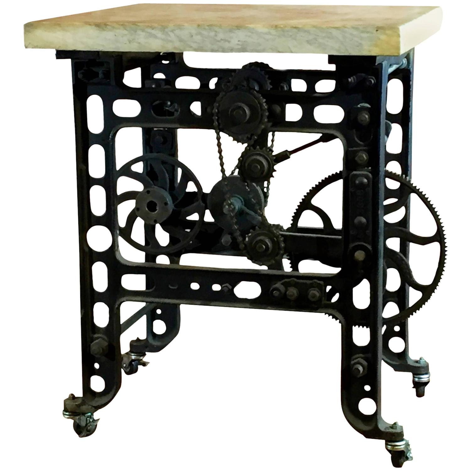 Iron and Marble Steampunk Table at 1stdibs : 3464952z from www.1stdibs.com size 1500 x 1500 jpeg 132kB