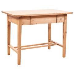 Small Jugendstil Pine Table with Drawer, circa 1900