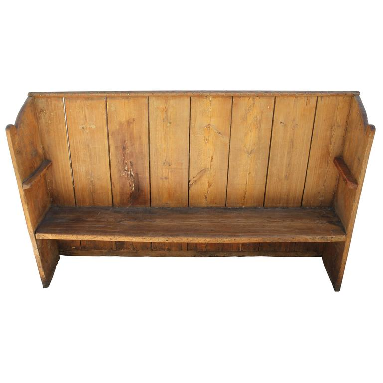 Early 19th Century Handmade Rustic Settle From The Mid West For Sale At 1stdibs