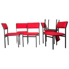 Set of Six Cees Braakman Japanese Series Dining Chairs