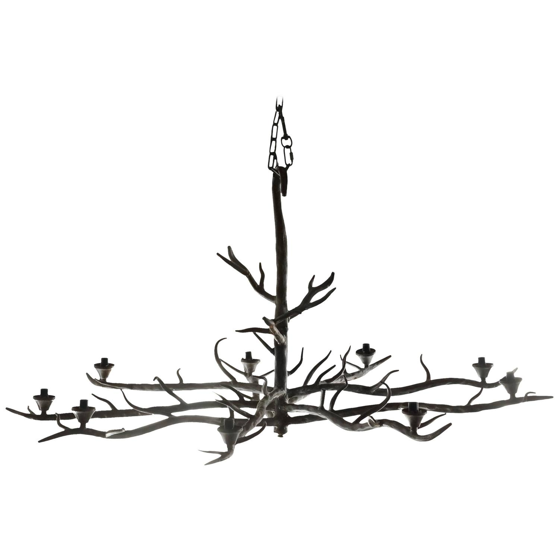 Handmade Tree Branch Chandelier Steel at 1stdibs