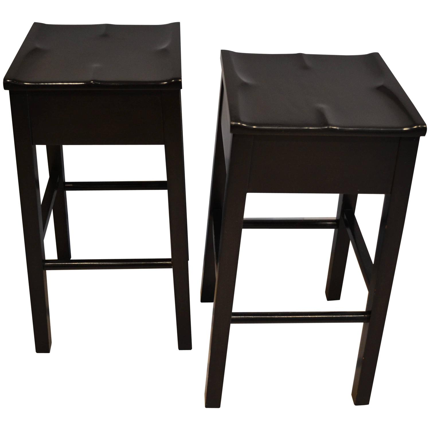 Wooden Barstools by Roy McMakin at 1stdibs
