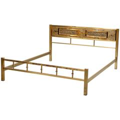 Illuminated Solid Brass King-Size Bed