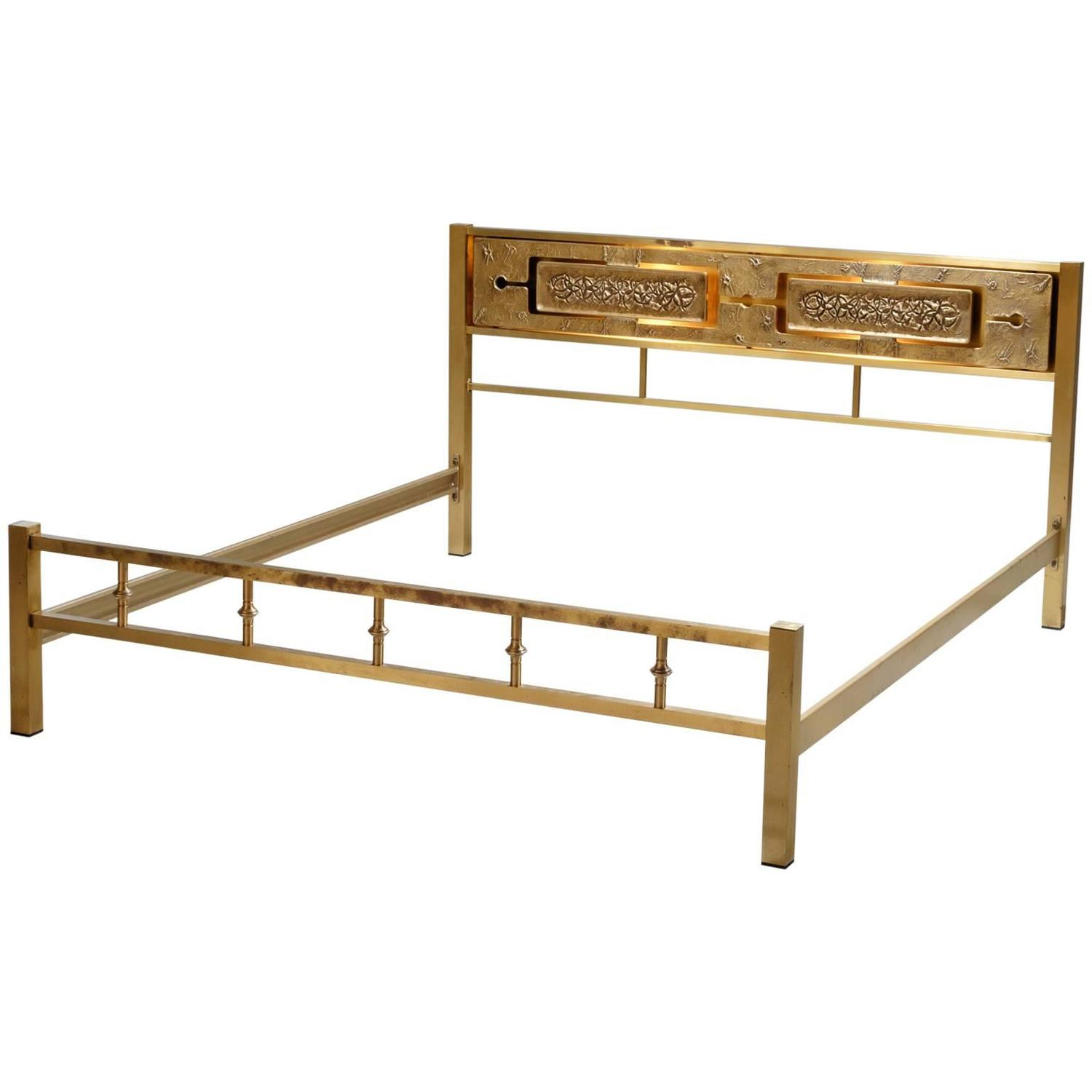 king size brass beds