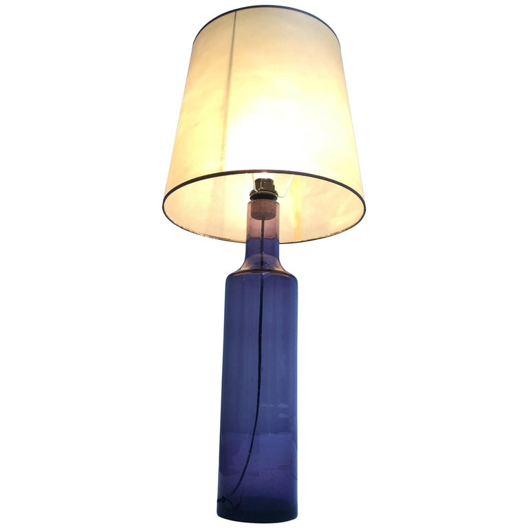 Large 1960s Italian Purple Murano Glass Table or Floor Lamp For Sale