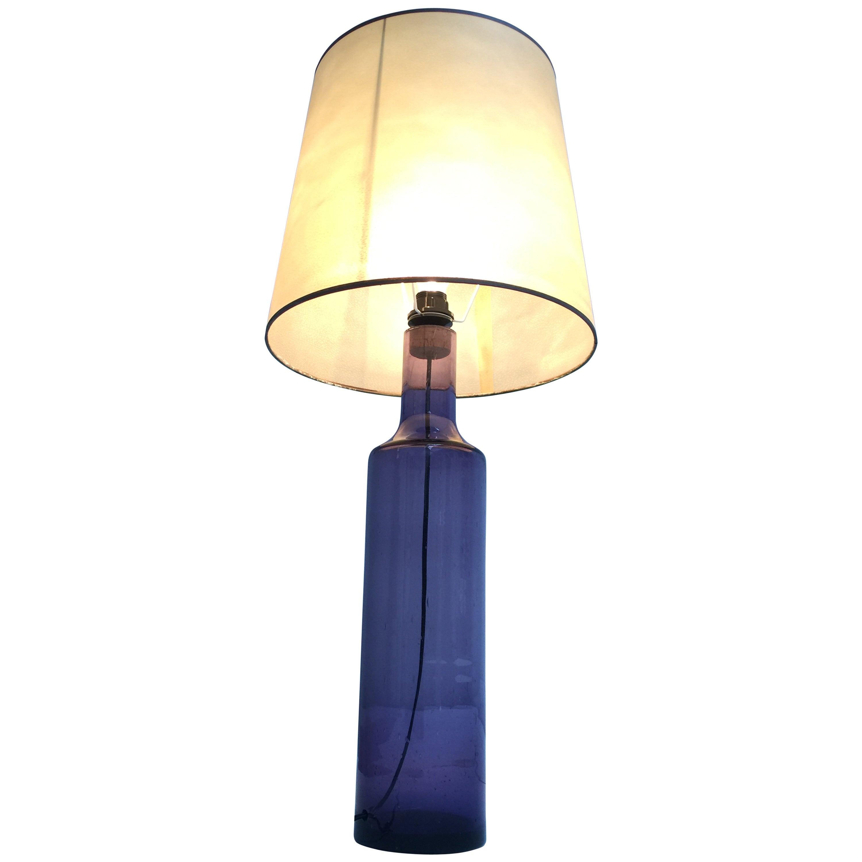 Large 1960s Italian Purple Murano Glass Table or Floor Lamp