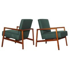 Pair of Open Armchairs by Lewis Butler for Knoll
