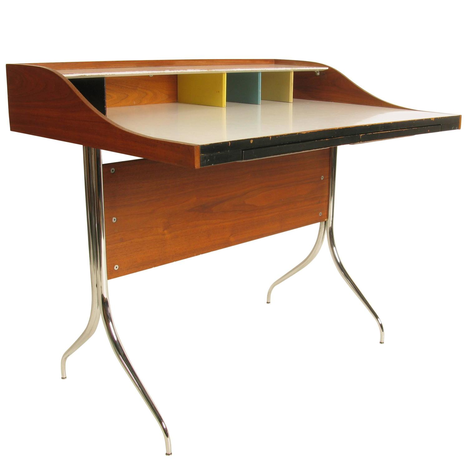 George Nelson Swag Leg Desk By Herman Miller At 1stdibs