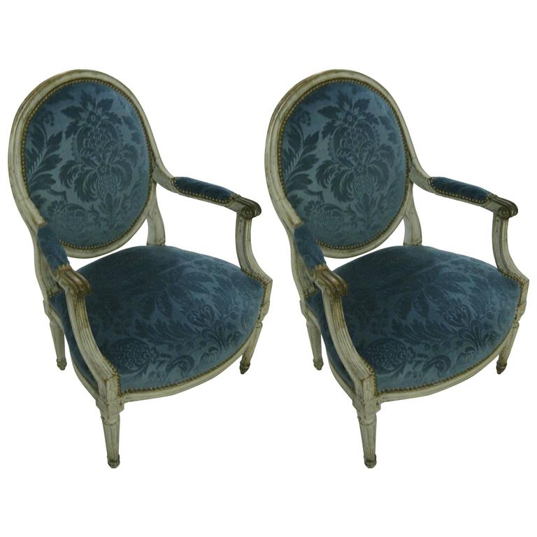 Pair of French Fauteuil, 18th Century