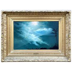 """""""Moonlight Mist"""" by Albert Bierstadt"""
