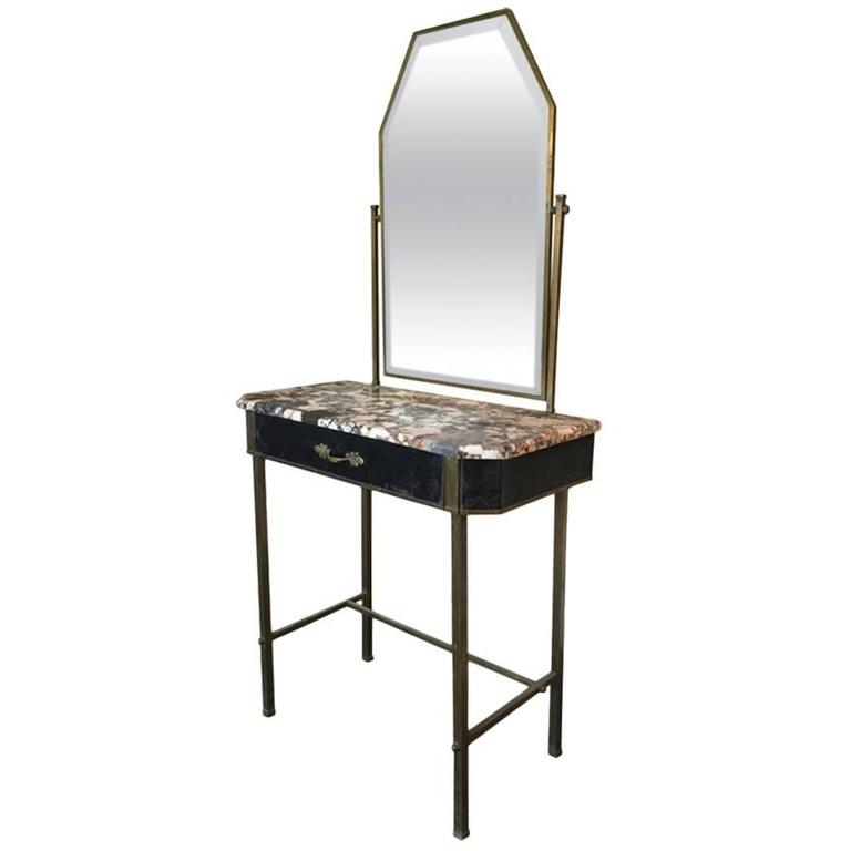 S metal and marble dressing table for sale at stdibs