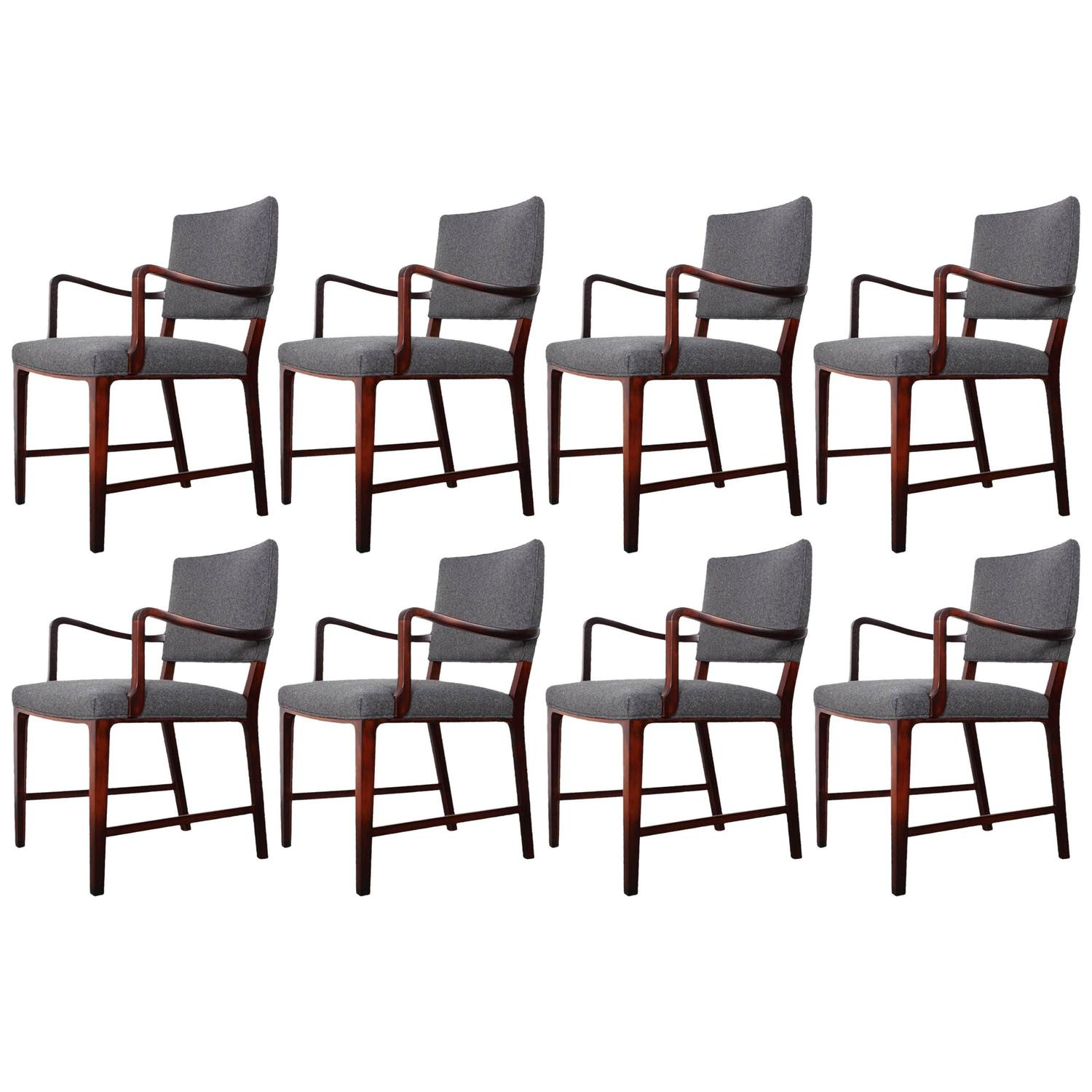 set of eight rosewood dining chairs at 1stdibs