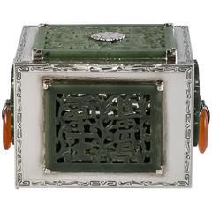 Sterling Silver and Jade Box, Farmer, circa 1920
