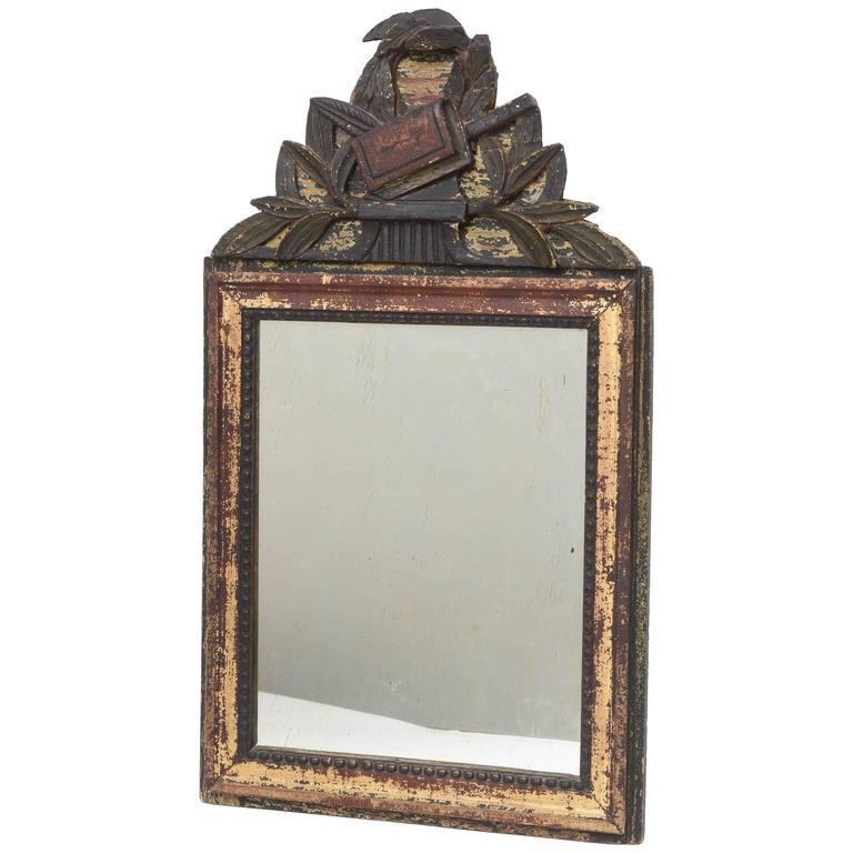 19th Century Antique French Small Mirror
