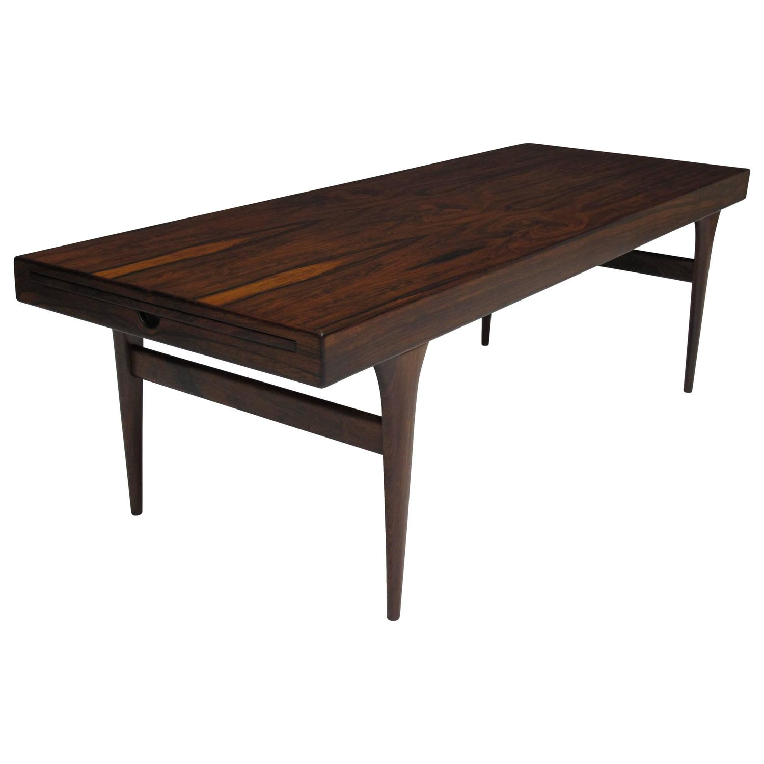 Johannes Andersen Danish Rosewood Coffee Table At 1stdibs