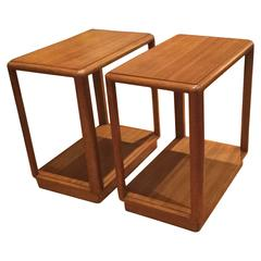 Pair of Mahogany End Tables for Dunbar
