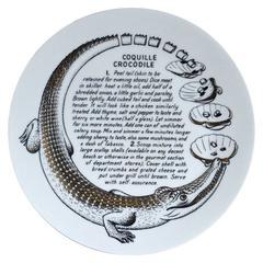 Piero Fornasetti Fleming Joffe Recipe Plate-Coquille Crocodile.