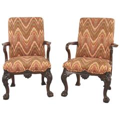 Fine Pair of George II Style Mahogany Child's Chairs