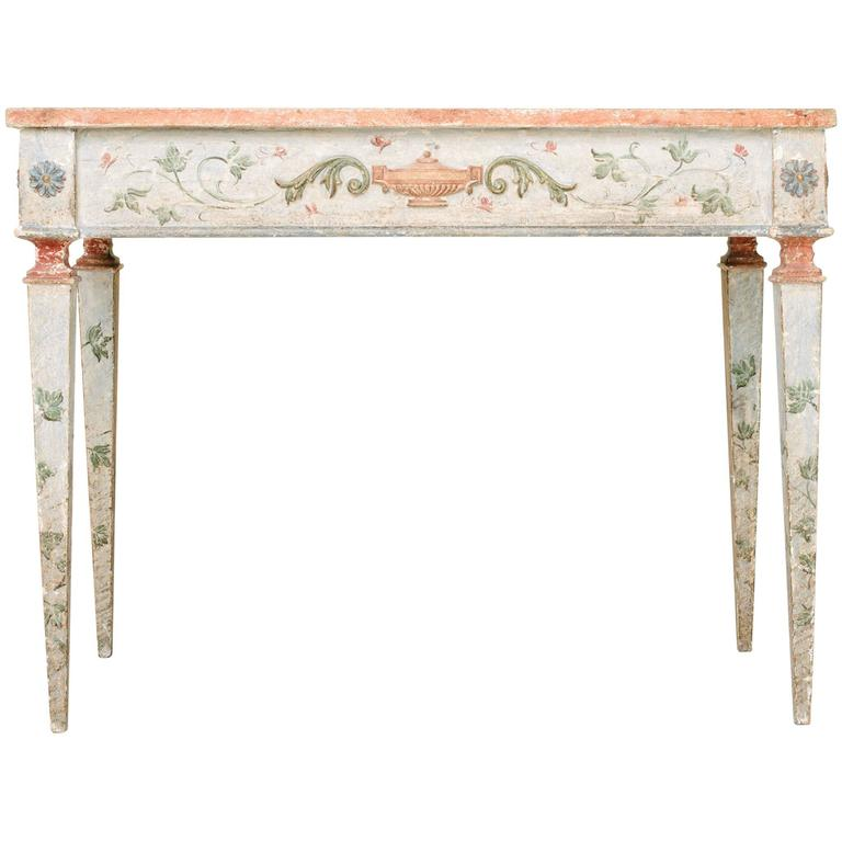 19th Century Italian Painted Neoclassical Style Console Table