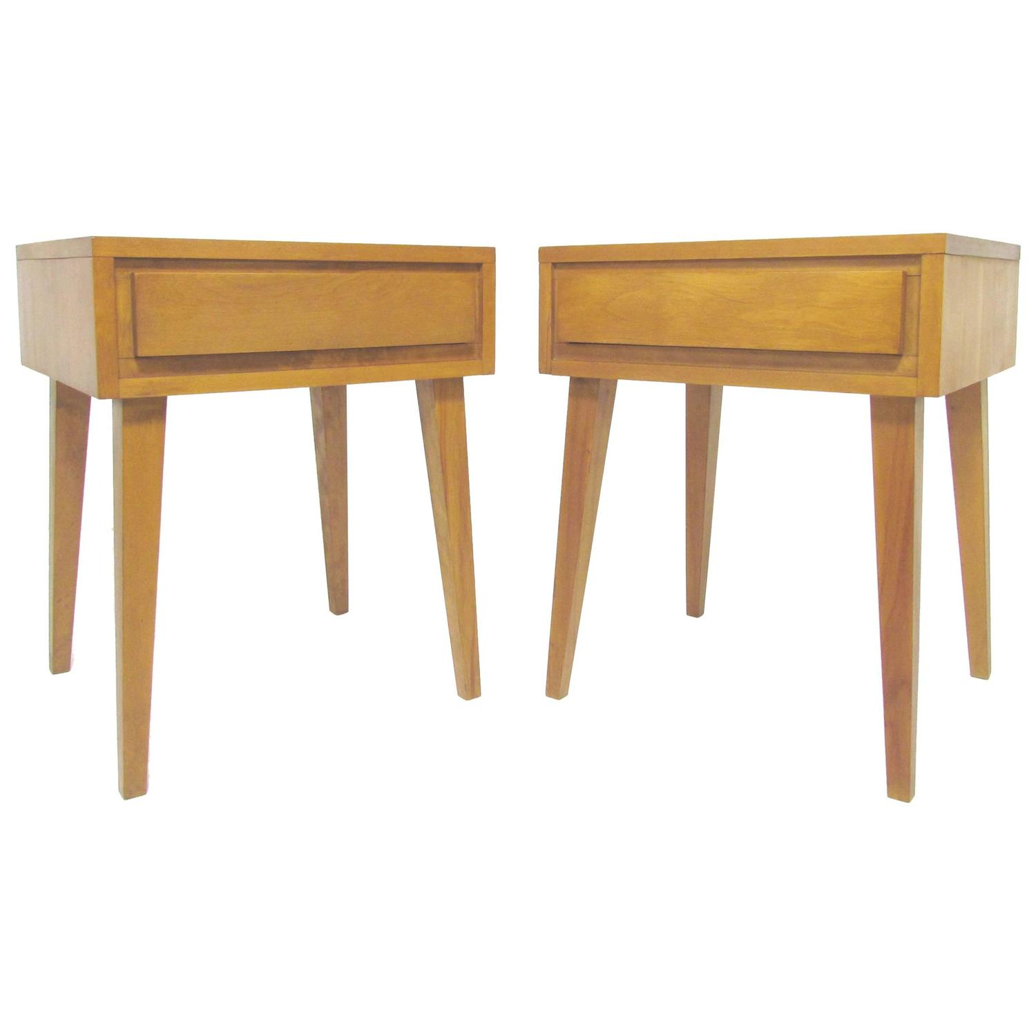 Pair Of End Tables Or Nightstands By Russel Wright For Conant Ball At 1stdibs