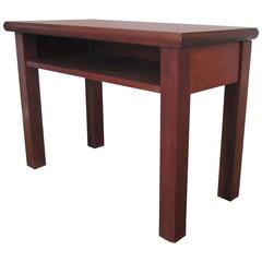 Small End or Side Table with Shelf