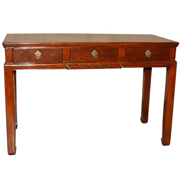 Fine Jumu Console Table or Desk with Drawers