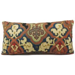19th Century Aubusson Tapestry Bolster Pillow
