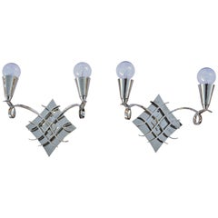 Pair of French Sconces in the style of Leleu