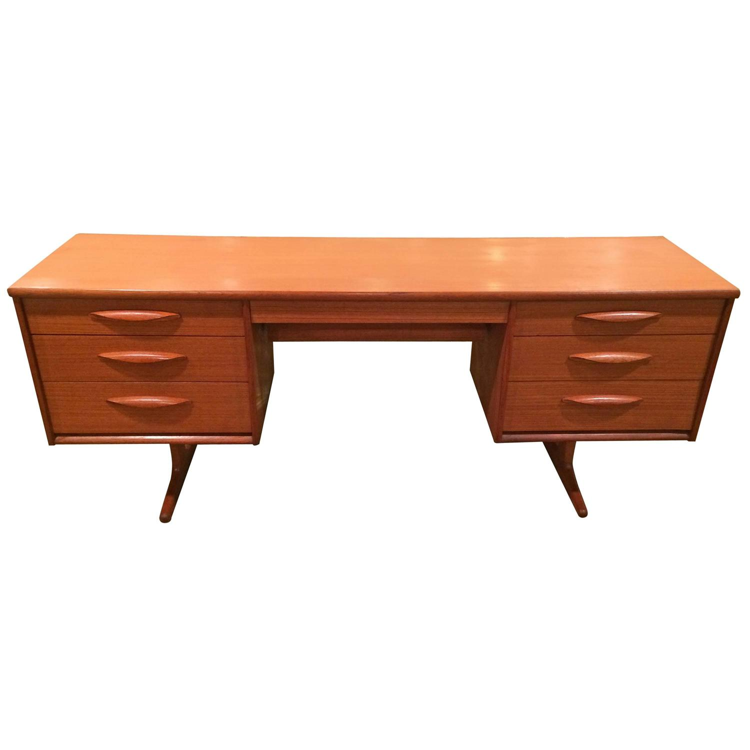 floating teak desk or vanity for sale at 1stdibs