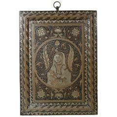 Indian Metalware Wall Plaque