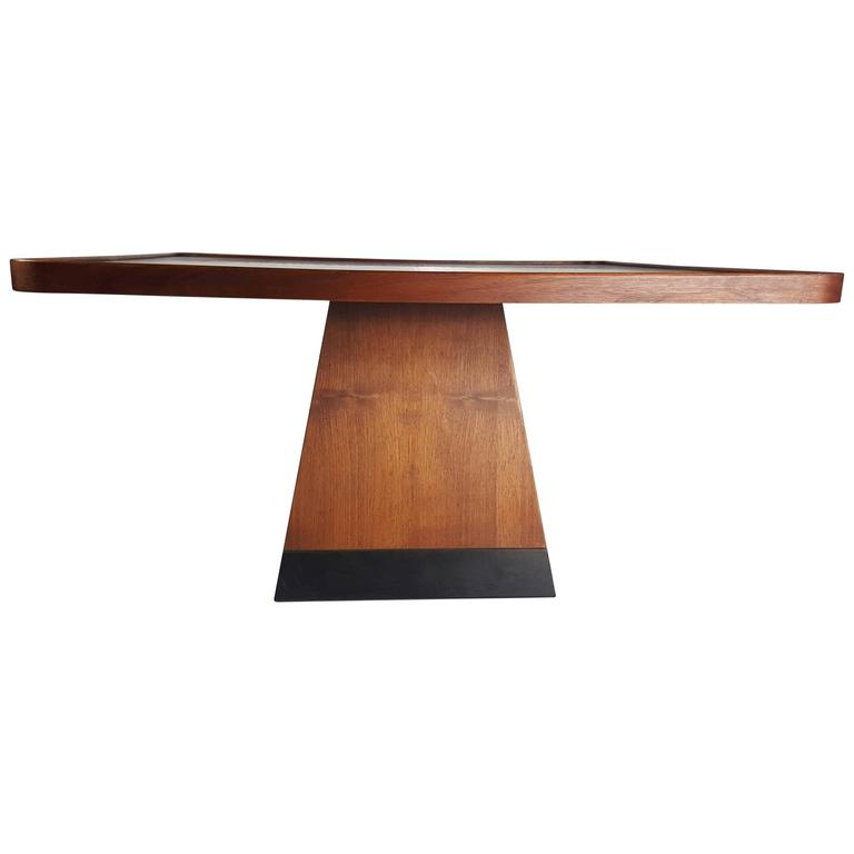 Post Modern Satinwood Cocktail Table Pyramid Base Philippe Starck Style For Sale At 1stdibs