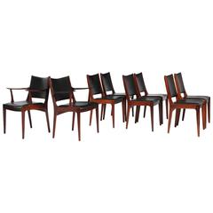Rosewood Danish Dining Chairs by Johannes Andersen