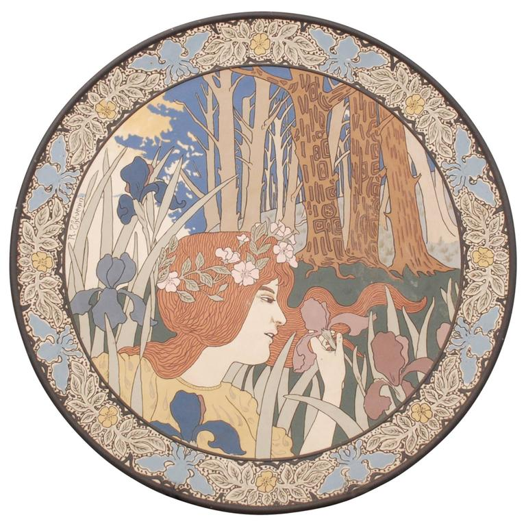 Charles Rene Thevenin for Villeroy and Boch, Mettlach, Germany 1899 ...