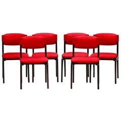 Set of Six Modernist Italian Cantieri Carugati Chairs