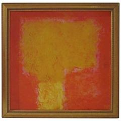 Colorful Signed Abstract Art Painting from Paris