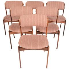 Set of Six Erik Buck Model 49 Dining Chairs in Rosewood