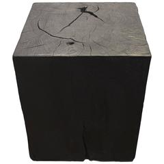 Triple Burnt Side Table