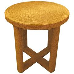 Jute Table in Audoux Minet Manner