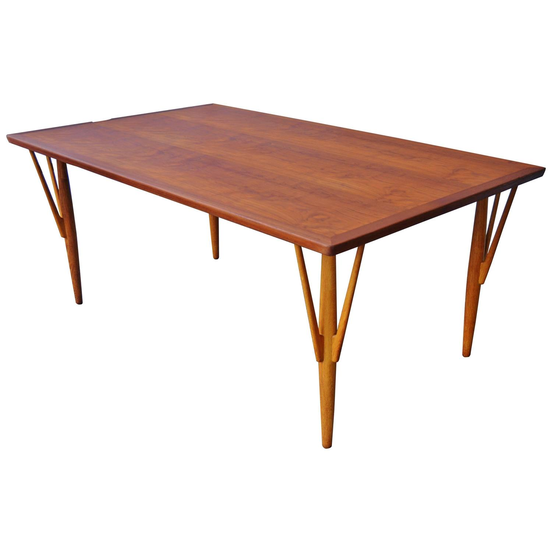 Hans Wegner Teak Dining Table Desk For Sale at 1stdibs