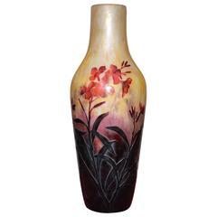 Large Vase by Daum, Pâte de Verre