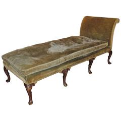 George II Style Walnut Daybed or Recamier