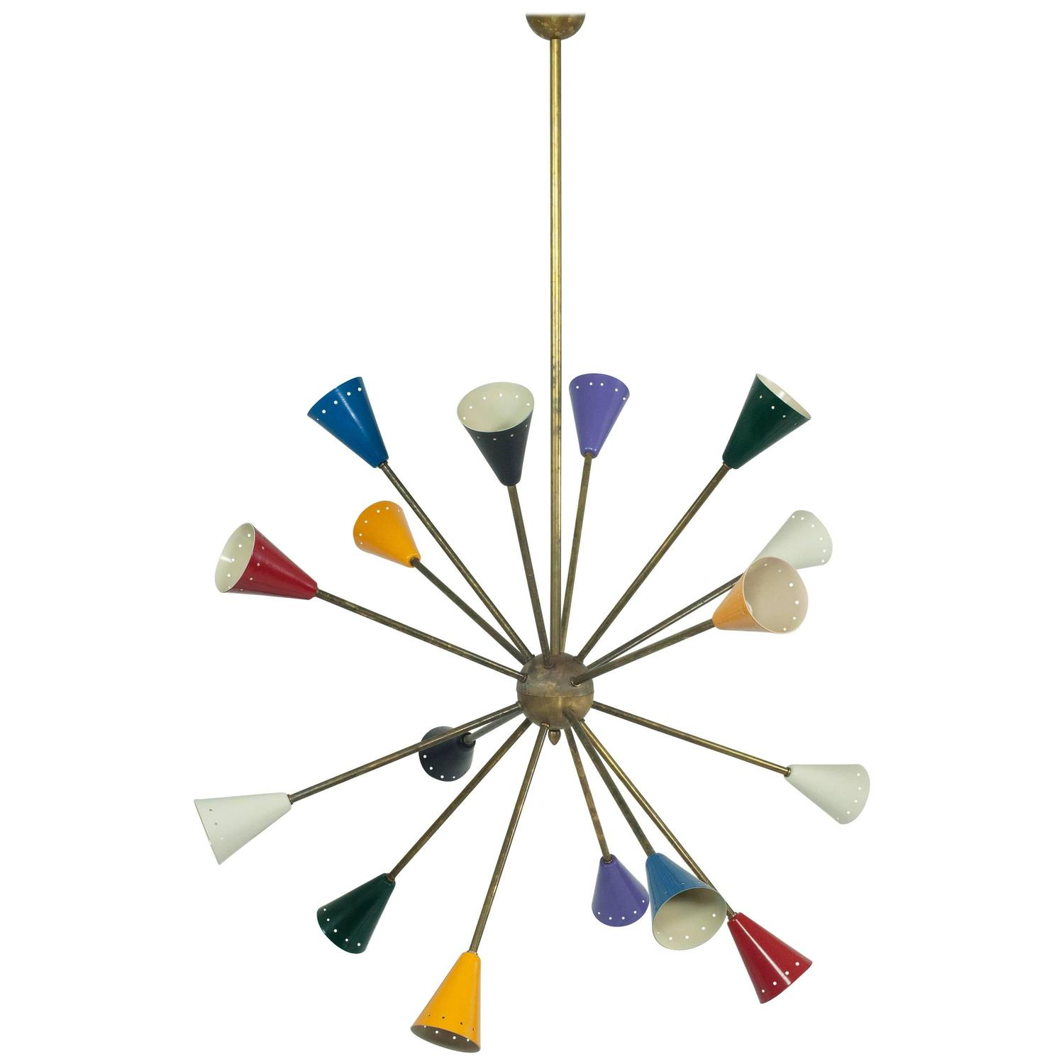 multicolored sputnik chandelier mid century modern italy. Black Bedroom Furniture Sets. Home Design Ideas
