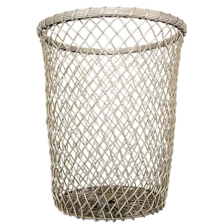 aluminum decorative waste basket for sale at 1stdibs
