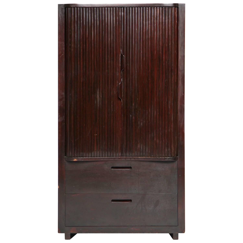 Tambour Door Cabinet By Rudolf Rasmussen For Sale At 1stdibs