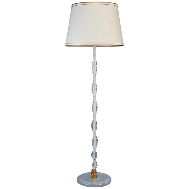 Important Murano Glass Floor Lamp Attributed to Venini, Italy ca.1950