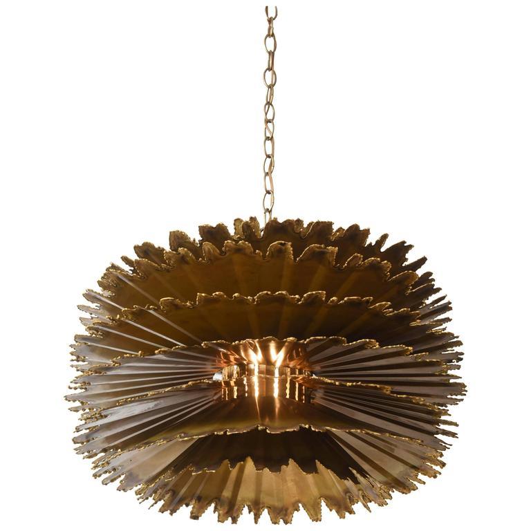 large brutalist orb chandelier by t a greene for feldman lighting at 1stdibs. Black Bedroom Furniture Sets. Home Design Ideas