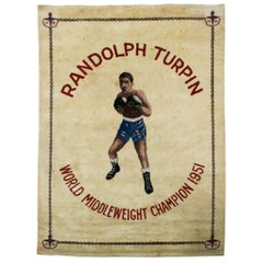 Boxing Carpet, Randolph Turpin. Middleweight Champion of the World. Sugar Ray.