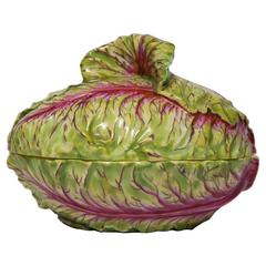 Rare Meissen Covered Box/Small Tureen in the Form of a Cabbage