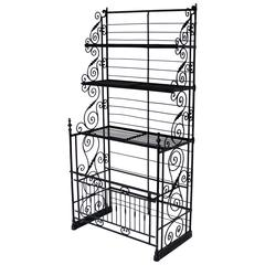 Large Wrought Iron French Bakers Rack