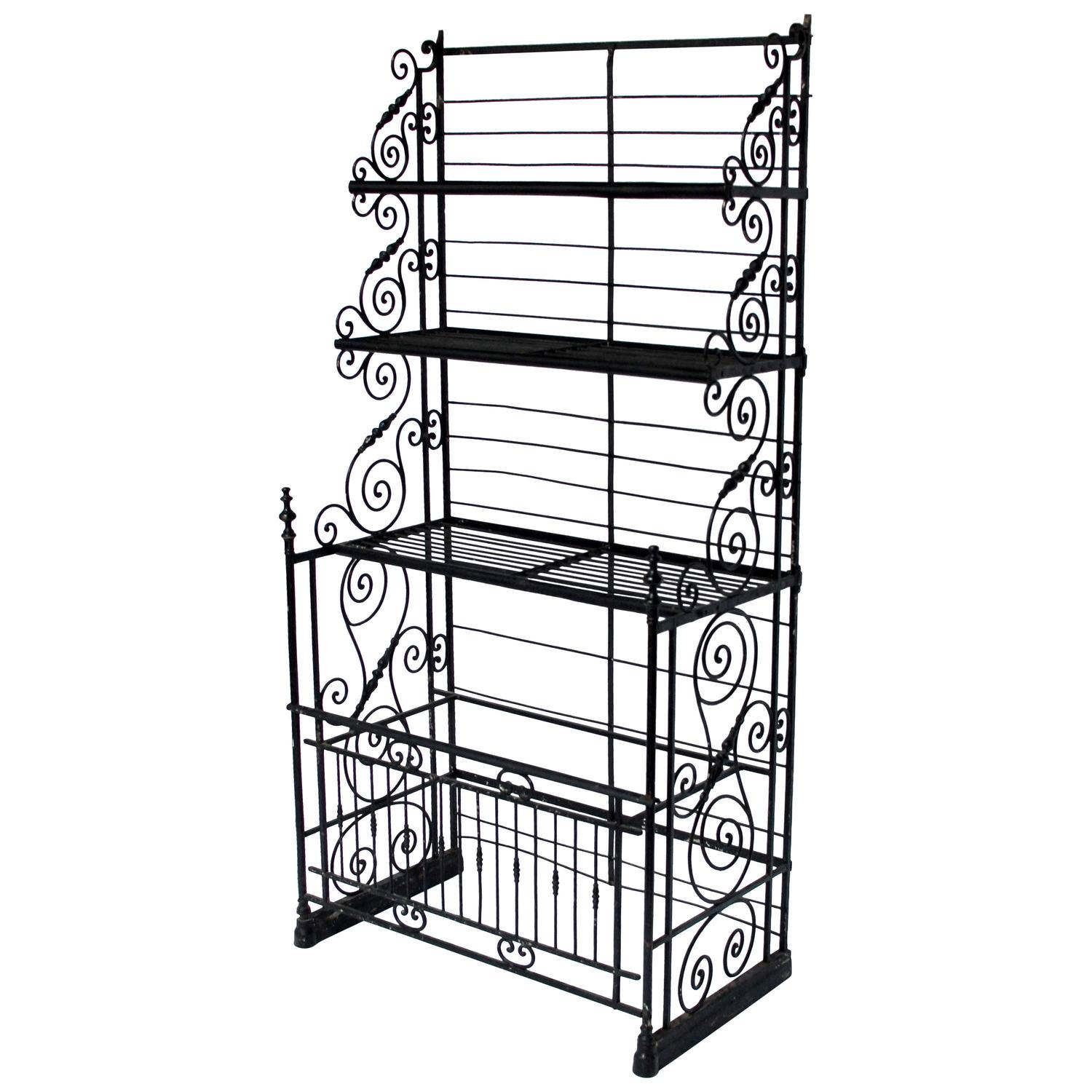 Wonderful image of Wrought Iron Bakers Rack With Wood Shelves Pictures to pin on  with #51595C color and 1500x1500 pixels